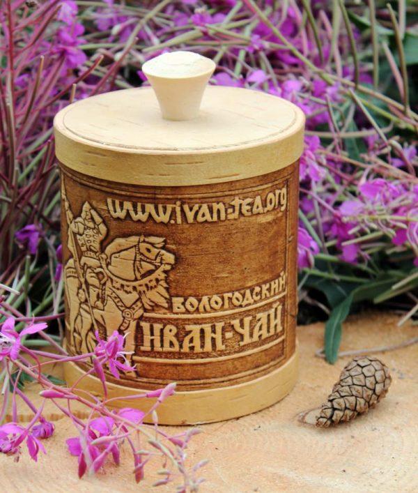 Иван-чай в берестяном туеске, 100 гр