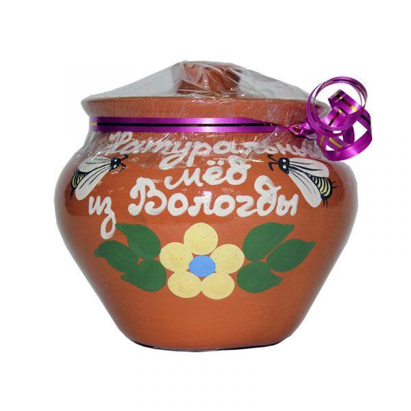Горшочек керамический с медом, 0,3 кг
