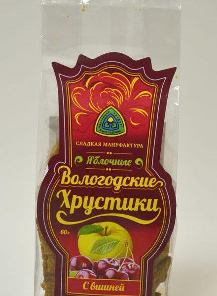 Хрустики из натуральной пастилы с ВИШНЕЙ 60 гр