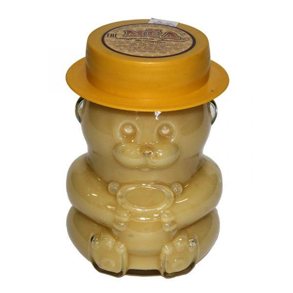 Мед натуральный в стеклянной банке «Мишка», 0,4 кг