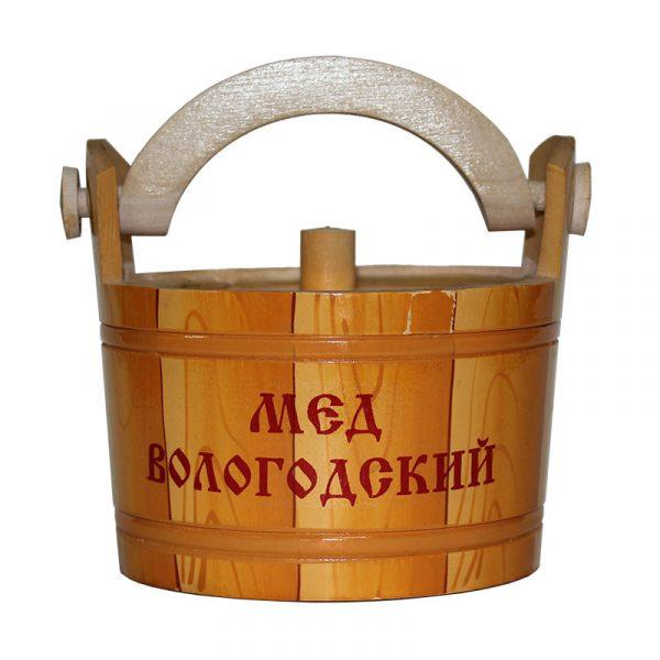 Ушат деревянный с медом, 0,4 кг