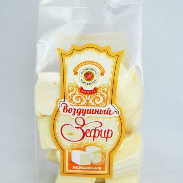 Воздушный зефир «Маршмеллоу» ВАНИЛЬ, 200 гр