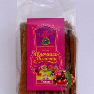 "Яблочные палочки без сахара и фруктозы с вишней ""Фитнес"" 150 гр"
