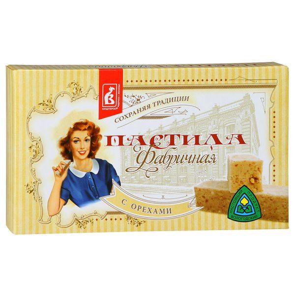 Пастила Фабричная с орехами, 255 гр