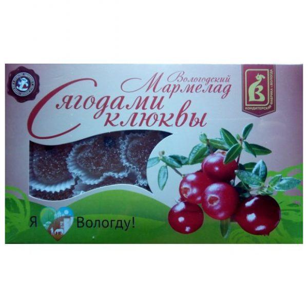 Мармелад «С ягодами клюквы», 300 гр