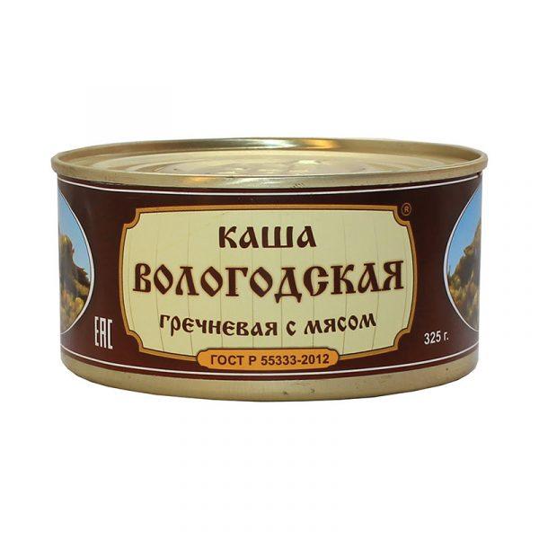 Каша гречневая с говядиной ГОСТ, 325 гр