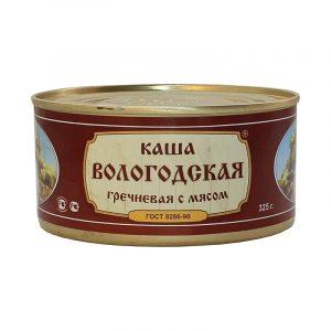 Каша гречневая со свининой ГОСТ, 325 гр