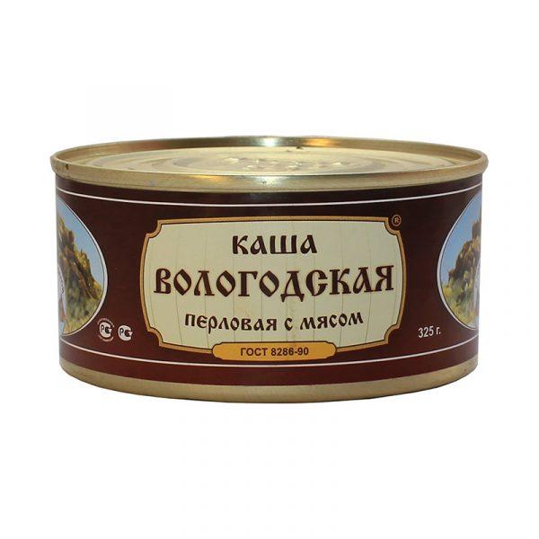 Каша перловая со свининой ГОСТ, 325 гр