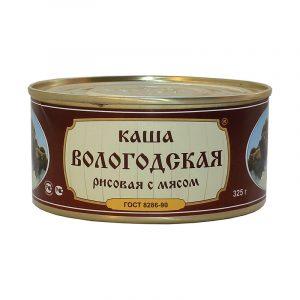 Каша рисовая с говядиной ГОСТ, 325 гр