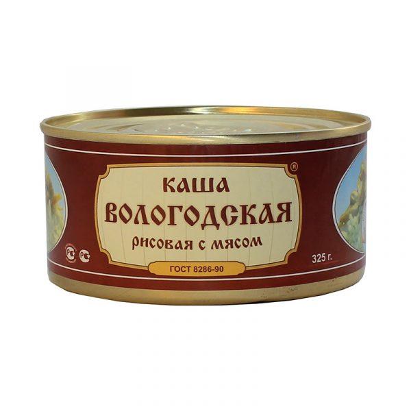 Каша рисовая со свининой ГОСТ, 325 гр