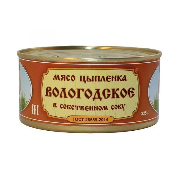 Мясо цыпленка Вологодское в с/с, 325 гр