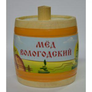 Бочонок деревянный с медом (пейзаж)