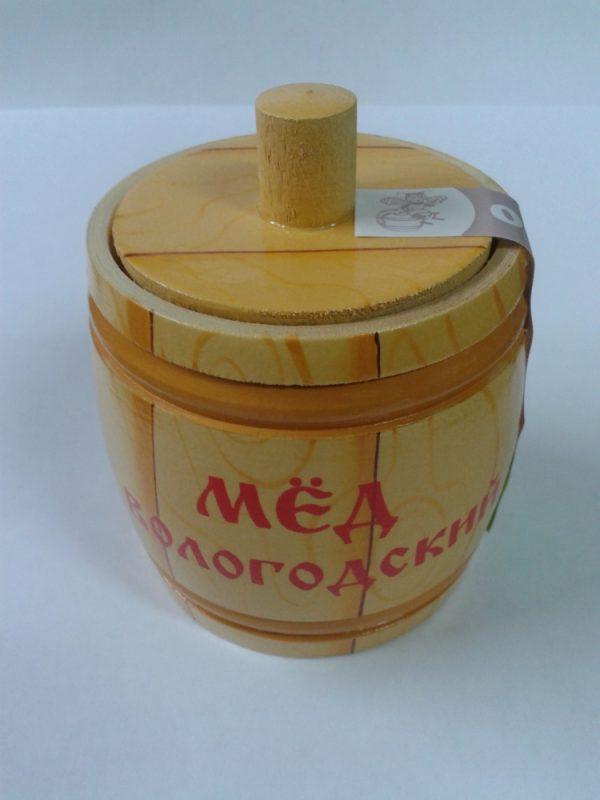 Бочонок деревянный с медом, 0,15 кг