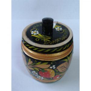 Бочонок деревянный с Вологодским медом (хохлома)
