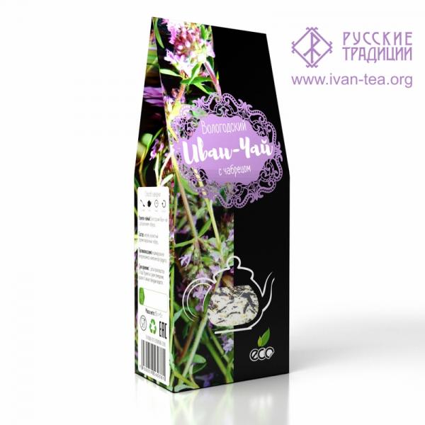 Вологодский Иван-чай с чабрецом в картонной упаковке, 50 г