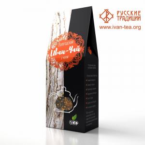 Вологодский Иван-чай с чагой в картонной упаковке, 100 г