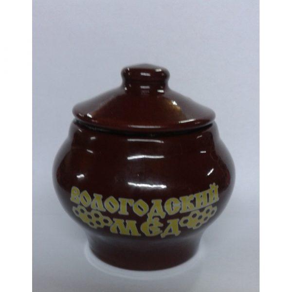 Горшочек керамический с медом (глазурь), 0,15 кг