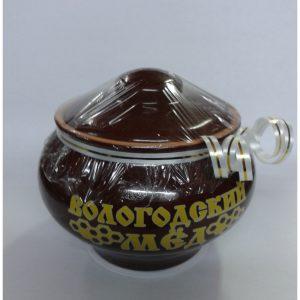 Горшочек керамический с медом (глазурь), 0,3 кг