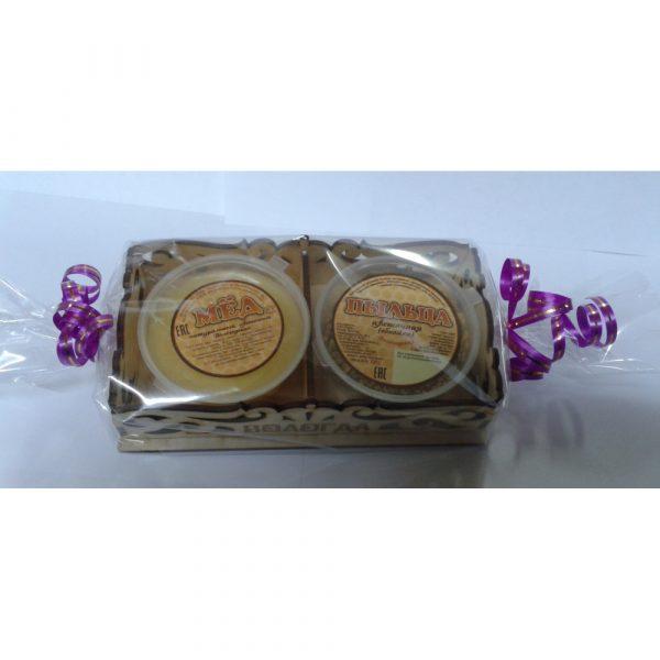Набор подарочный №2 (мёд 0,1+пыльца 0,05) 0,15 кг