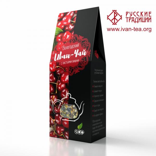 Вологодский Иван-чай с листьями вишни в картонной упаковке, 50 г