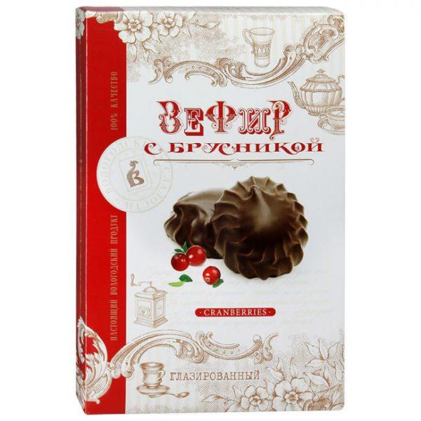 Зефир глазированный «с брусникой», 250 гр