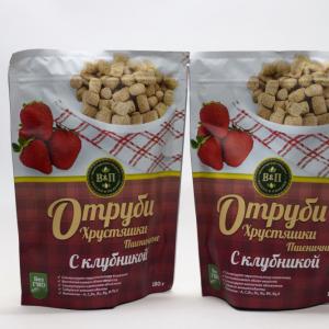 """Отруби пшеничные """"с клубникой"""" 180гр"""