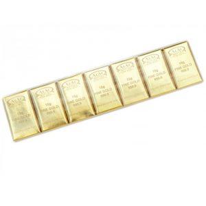 Конфеты 15 грамм золота 105 гр.