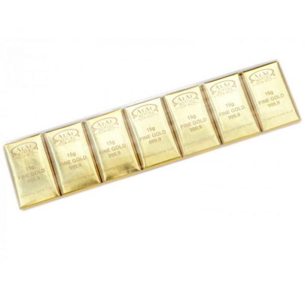 Конфеты 15 грамм золота 105 гр
