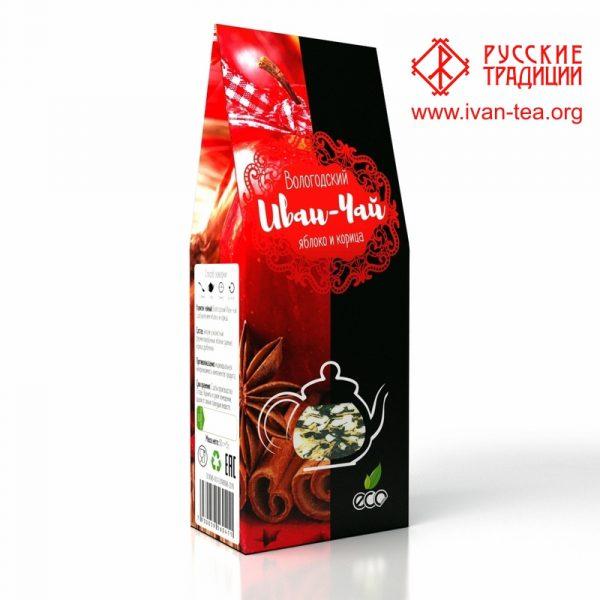 Вологодский Иван-чай с яблоком и корицей в картонной упаковке, 50 г