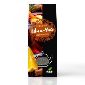 Вологодский Иван-чай с цедрой апельсина и корицей в картонной упаковке, 50 г